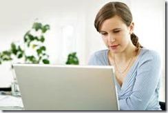 woman computer