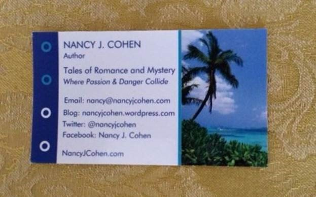 Business cards nancys notes from florida here youll find my tag line social links to twitter and facebook my website and blog urls plus my email address in the early days i listed my po box colourmoves