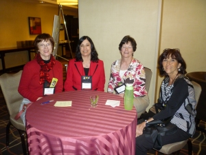 Maggie Toussaint, Nancy J. Cohen, Barbara Graham and Polly Iyer