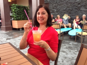 Nancy with drink